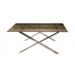 TABLE BASSE SOFT  X verre fumé