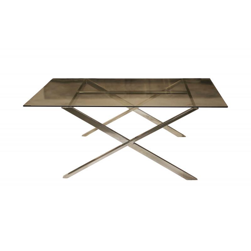 TABLE BASSE SOFT  X verre fumé